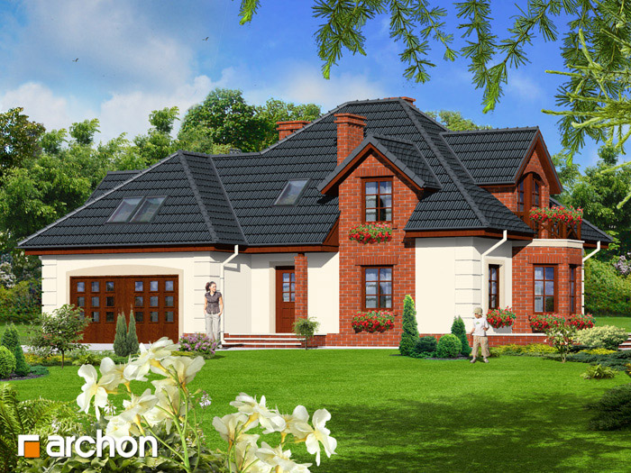 Dom w petuniach - Widok 10